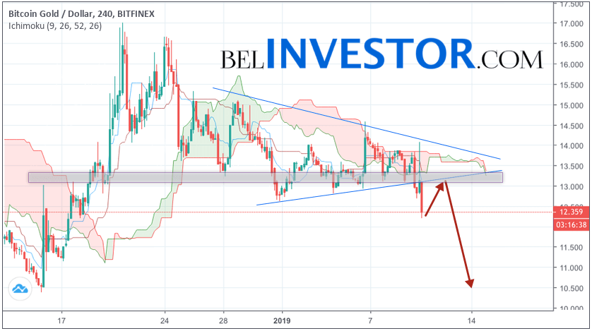 Криптовалюта Bitcoin Gold прогноз на 11 января 2019
