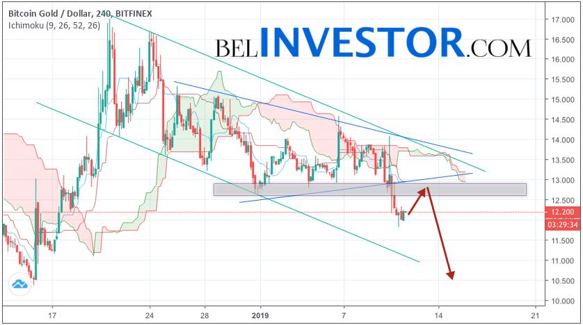 Криптовалюта Bitcoin Gold прогноз на 12 января 2019
