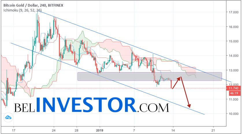 Криптовалюта Bitcoin Gold прогноз на 14 января 2019