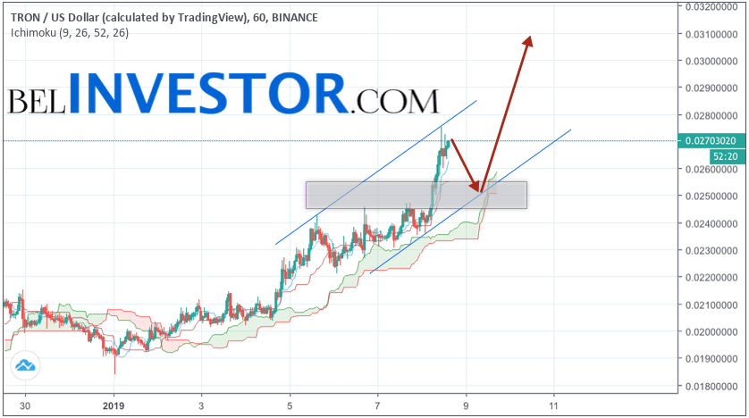 TRX/USD прогноз криптовалюты TRON на 9 января 2019