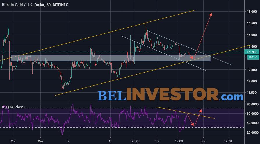 Bitcoin Gold прогноз и аналитика 23 марта 2019