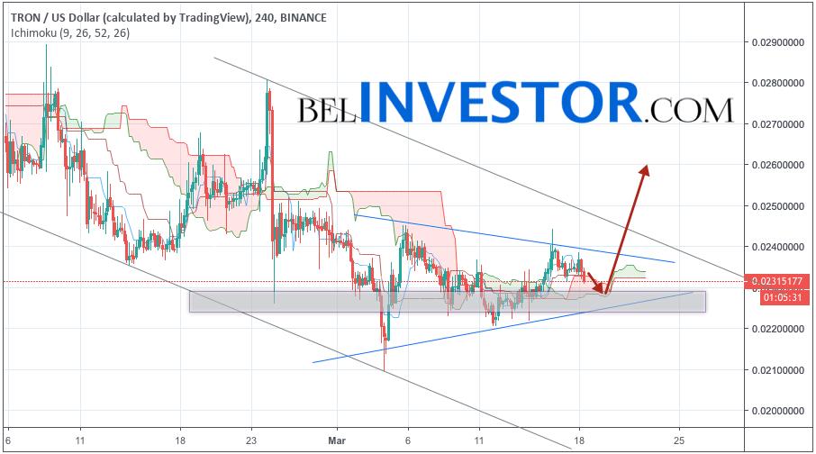 TRX/USD прогноз криптовалюты TRON на 19 марта 2019