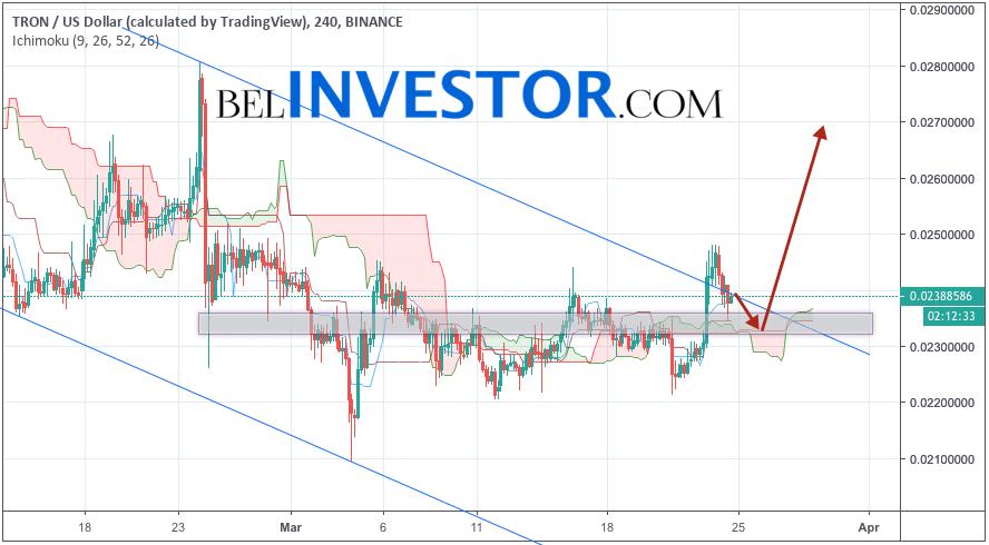 TRX/USD прогноз криптовалюты TRON на 25 марта 2019