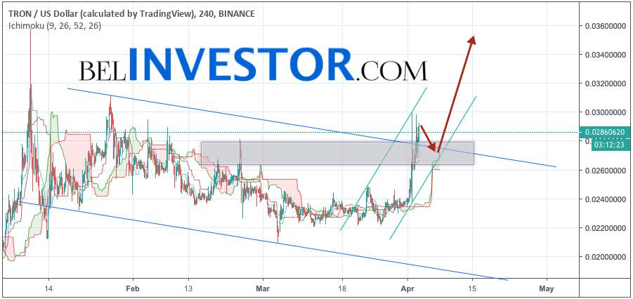 TRX/USD прогноз криптовалюты TRON на 4 апреля 2019