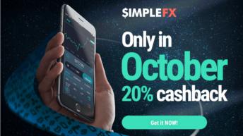 Торгуйте по самым низким тарифам в октябре и получите кэшбэк в размере $500